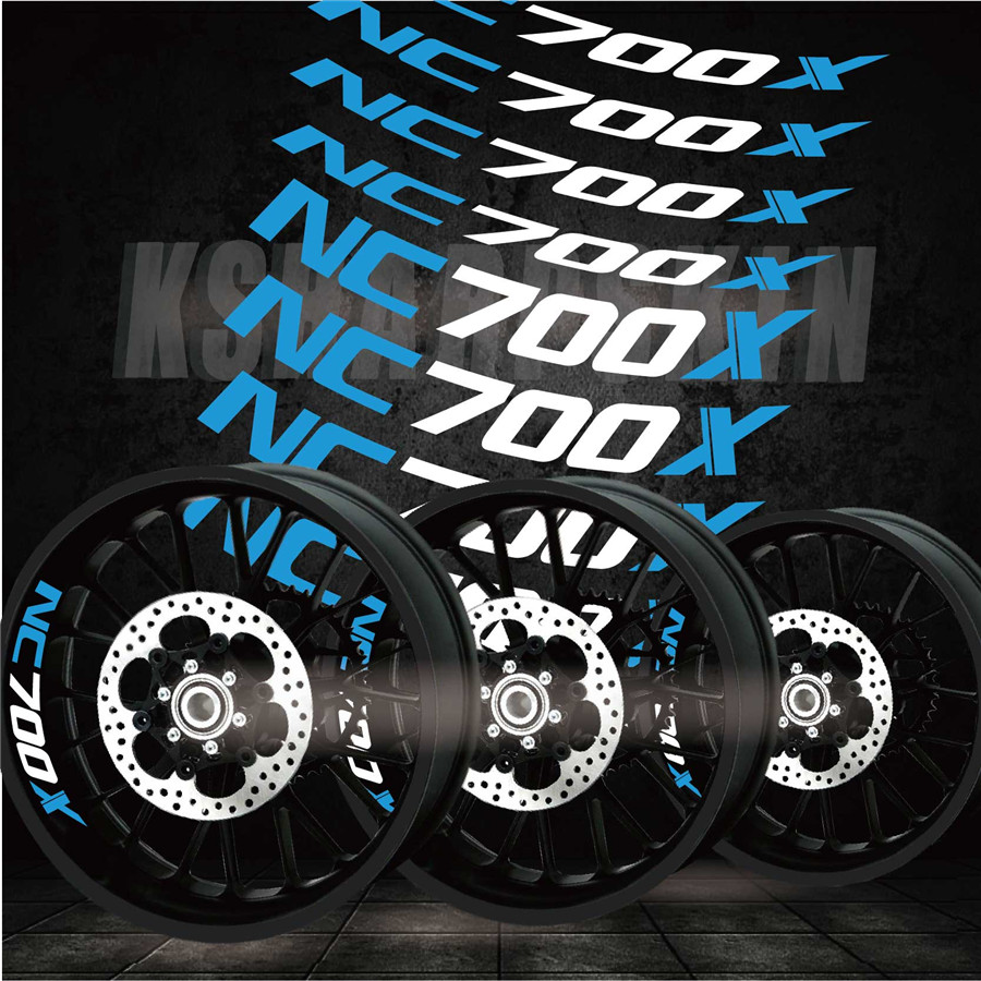 Best Selling Modified Motorcycle Personality Creative Wheel Accessories Reflective Interior Side Decals For HONDA NC700X