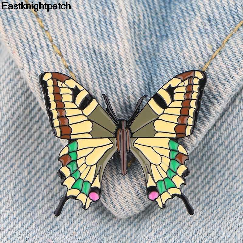 Kupu-kupu Kartun Seng Alloy Dasi Pin Lencana untuk Kemeja Tas Pakaian Topi Ransel Sepatu Bros Medali Dekorasi untuk Wanita E0913