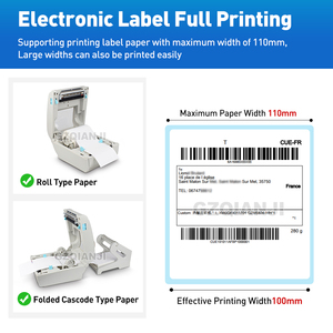 Image 3 - 4 inch Thermal Label Printer with High Speed 160mm/s USB Bluetooth for Printing Sticker/Label Printer