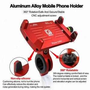 Image 4 - Quad Lock Aluminium Bike Motorcycle Phone Holder Stand For 4 6.5 Smartphone Motorbike Handlebar Bracket Phone Mount For iPhone