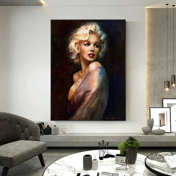 Sexy Women Canvas Painting Classical Portrait Posters and Prints Quadros Wall Art Picture for Living Room Home Decoration Cuadro 4
