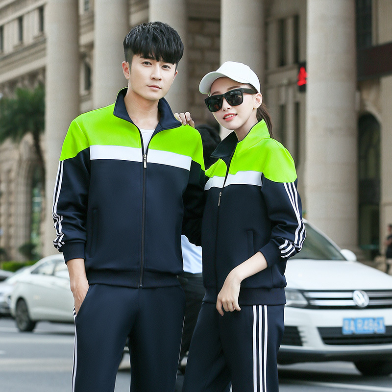 2019 Autumn New Style Korean-style Stand Collar Hoodie Suit MEN'S Sport Suit Couple Clothes Casual Wear Fashion Spring And Autum
