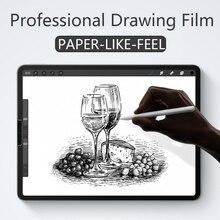 Бумажная Защитная пленка для экрана матовая ПЭТ с антибликовым покрытием для Apple iPad 9,7 Pro 10,5 mini 5 Face ID 11 12,9 Новинка 10,2 дюйма