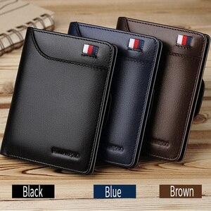 Men wallet Genuine Leather pur