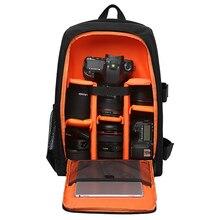 방수 기능 DSLR 배낭 카메라 비디오 가방 w/레인 커버 SLR 삼각대 케이스 PE 사진 작가 용 패딩 Canon Nikon