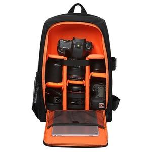 Image 1 - Imperméable à leau fonctionnel DSLR sac à dos caméra vidéo sac avec housse de pluie reflex trépied étui PE rembourré pour photographe Canon Nikon