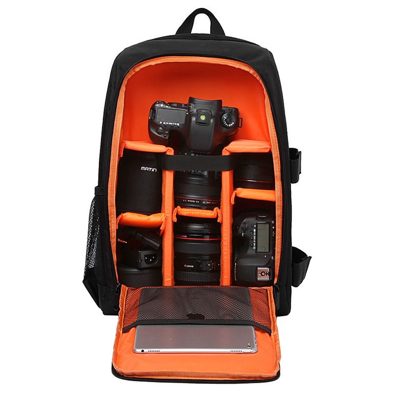 Waterproof Functional DSLR Backpack Camera Video Bag w  Rain Cover SLR Tripod Case PE Padded for Photographer Canon Nikon