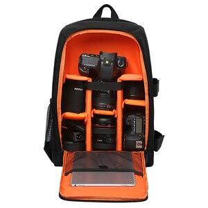 Image 1 - Waterproof Functional DSLR Backpack Camera Video Bag w/ Rain Cover SLR Tripod Case PE Padded for Photographer Canon Nikon