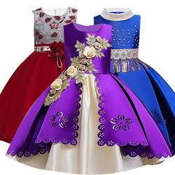 2019 Winter Christmas Dress Girls Wedding Party Elegant Tutu Princess Dress Kids Dresses For Girls Clothing vestidos 3-12 Years
