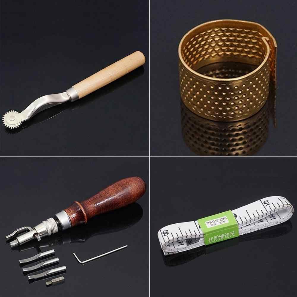 50 шт. набор инструментов для рукоделия, рукоделие, шитье, резьба, работа, дырокол, седло, кожевенное ремесло, аксессуары для работы с кожей