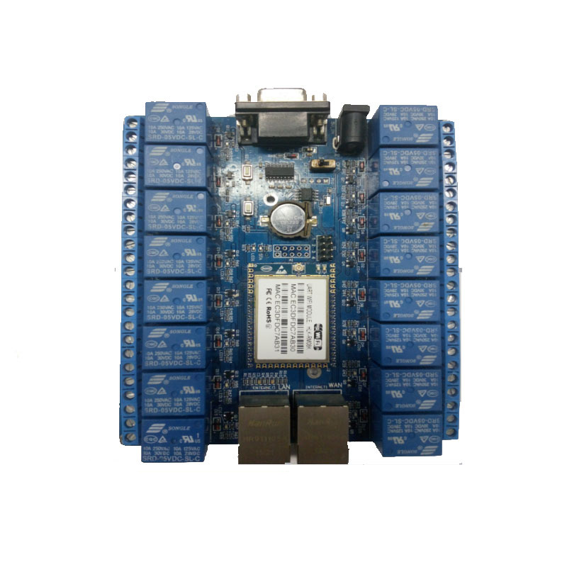 16 Channel Remote Control Relay smart home things of internet RS232 RJ45 port P2P WIFI relay board
