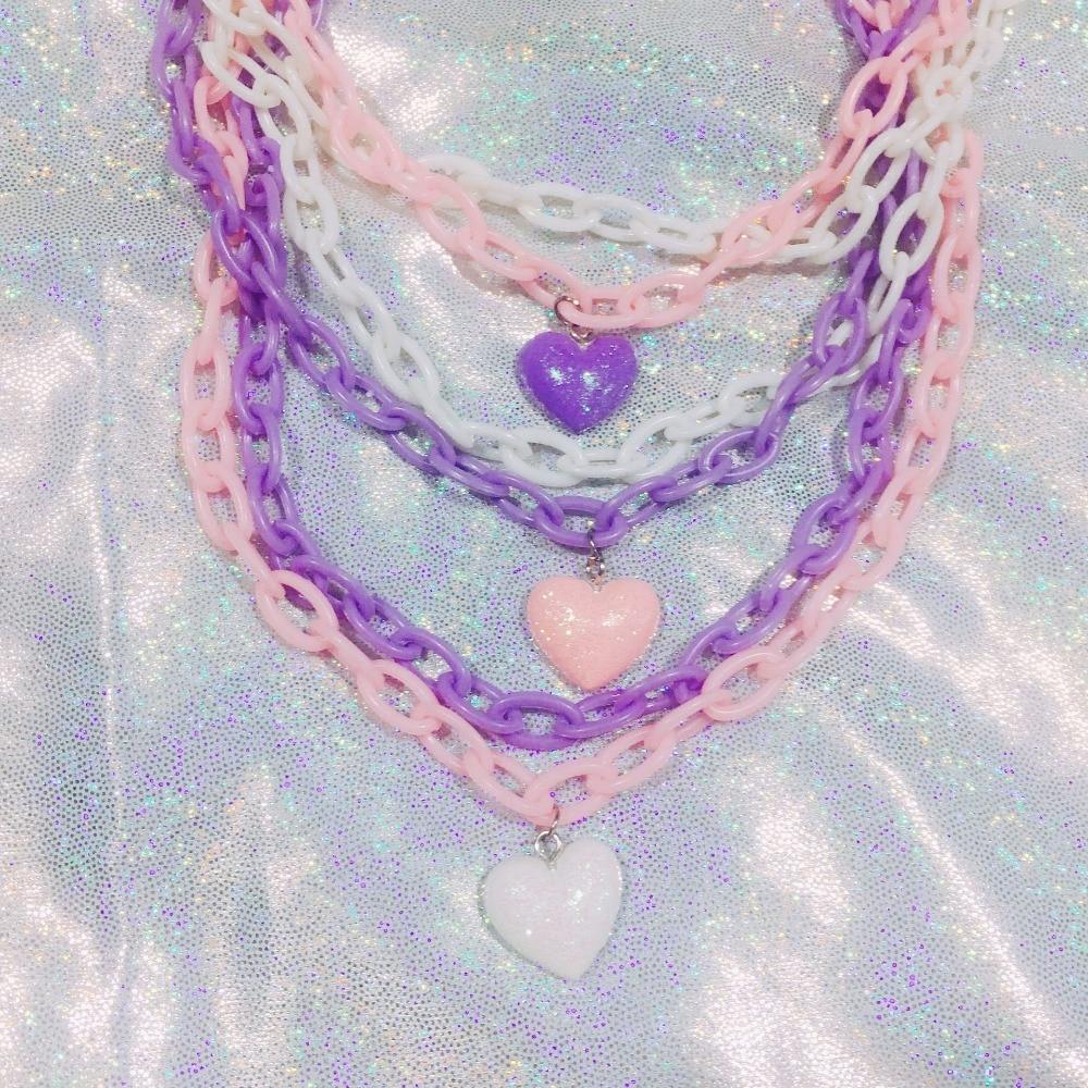 Pastel goth choker kawaii cute black pink purple spider web halloween elegant layered 90/'s red y2k creepy fairy kei jewelry decora harajuku