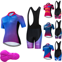 2020 Woman Cycling Jersey Set Pro Bicycle Sportswear Bike Clothes Shorts Sleeve feminine Cycling Clothing Maillot Ropa Ciclismo
