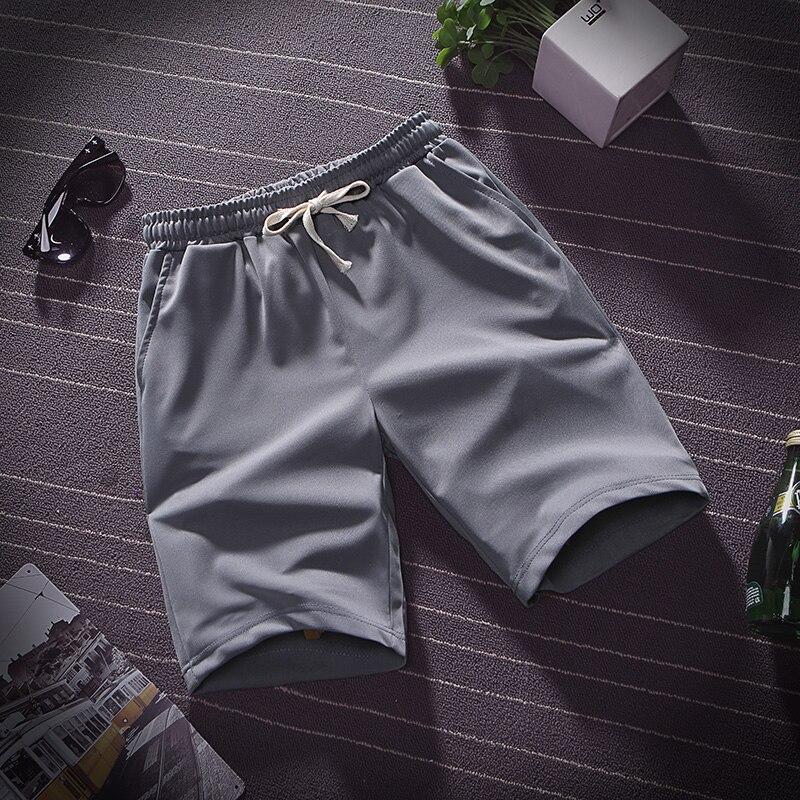 Summer thin ice silk five minute pants men wear loose sports casual shorts pyjama pants beach pants home big pants 2
