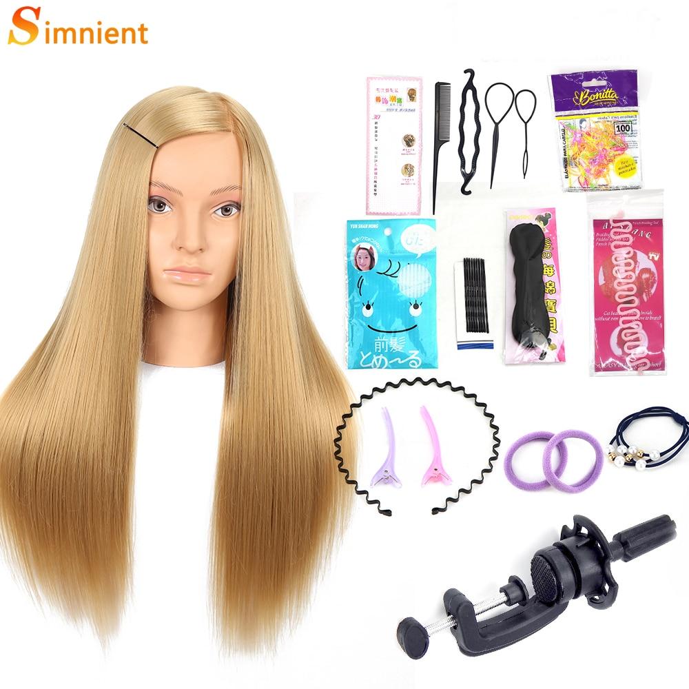 27 дюймов парикмахерский манекен головы 100% Высокое Температура Firber Цветные Волосы Головы Куклы хорошее парикмахерские Учебные головы-манек...