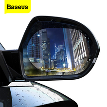 Baseus 2 Pcs Car Rearview Mirror Rainproof Film 0.15mm Clear Rear View Mirror Anti Fog Protective Films Window Foils Car Sticker