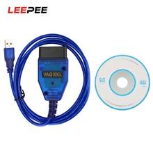 Scanner de Diagnostic OBD2, câble USB, Interface de loutil de balayage de puce CH340 pour VW Audi Volkswagen Skoda Vag Com 409Com, 409.1