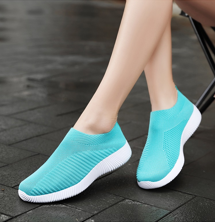 Sneakers Women Casual Vulcanize Shoes Laides Trainers Slip On Flats Shoes Mesh Basket Sock Shoes Zapatos De Mujer Basket Femme