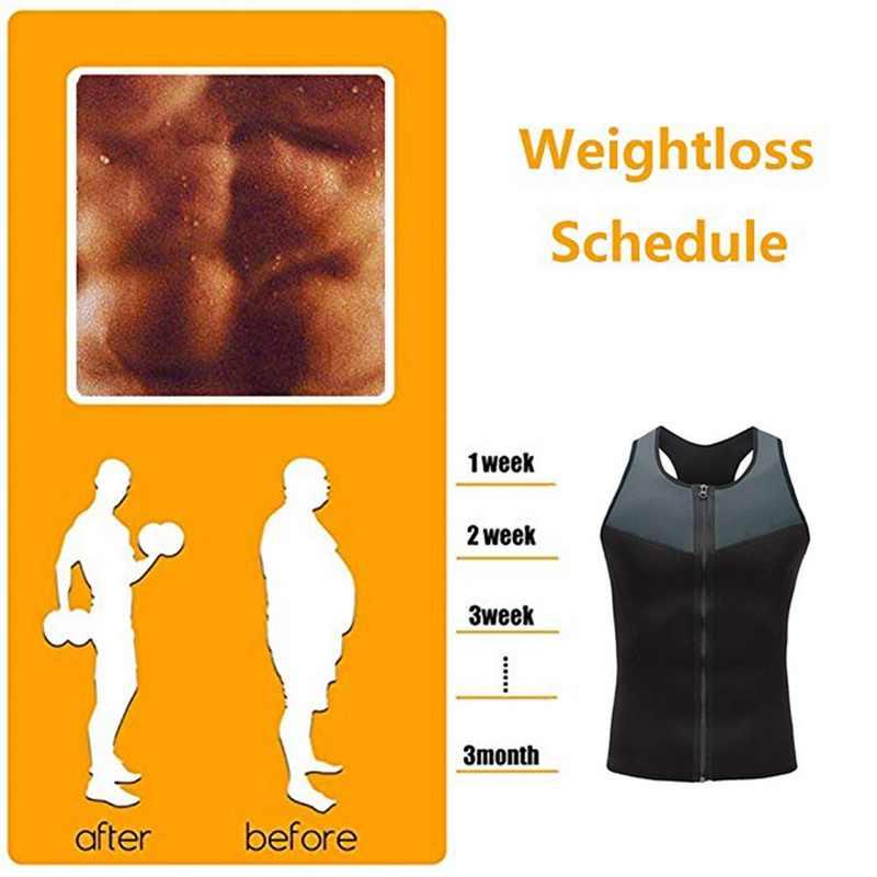 Sfit Neopreen Sauna Vest voor Mannen Zweet Shirt Taille Trainer Body Shaper Afslanken Pak Gewichtsverlies Casual Zweet Hot Workout tanks