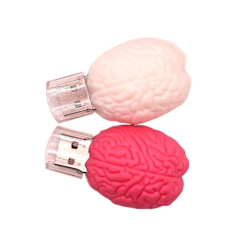 USB Flash Drive 128gb Pen Drive64gb Cartoon Brain Model Pen Drive 32gb Memory Stick 4gb 8gb 16gb  Personalized Gift Flash Drive