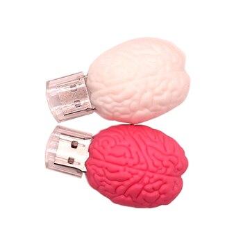 USB flash drive 128gb pen drive64gb cartoon Brain model 32gb memory stick 4gb 8gb 16gb  Personalized gift