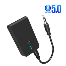 Car Aux Bluetooth 5.0 Adapter Wireless Audio Bluetooth Transmitter Receiver 3.5mm AUX Music Receiver Sender Adaptador цена 2017