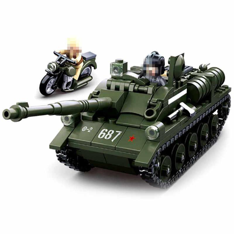 دبابة الجيش ww2 T34 M1A2 النمر الألمانية m1a2 معركة مركبة مجموعة اللبنات عدة لتقوم بها بنفسك الطوب التعليم هدايا عيد الميلاد