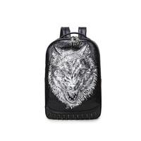 Laptop Backpack Mens Male Backpacks Business Notebook Mochila Waterproof Back Pack 3d wolf Bags Travel Bagpack