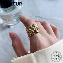 Louleur tecer 925 anel de prata esterlina anéis de bambu dourado para jóias femininas anel ajustável 2020 tendência de prata 925 jóias handm