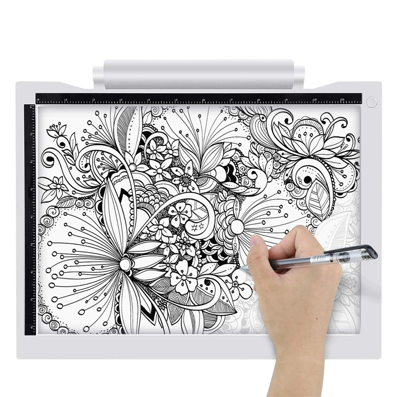 Light Box Drawing A4 Tracing Board Multi-Function Copying Station Battery-Powered USB Powered Copy Board