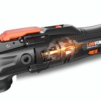 LOMVUM 21 18v コードレスの Renovator 振動木工工具 Diy ホーム 6 可変速度マルチカッター電動トリマー刃