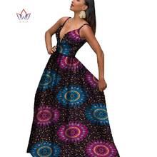 Brw африканские платья для женщин глубокий v образный вырез