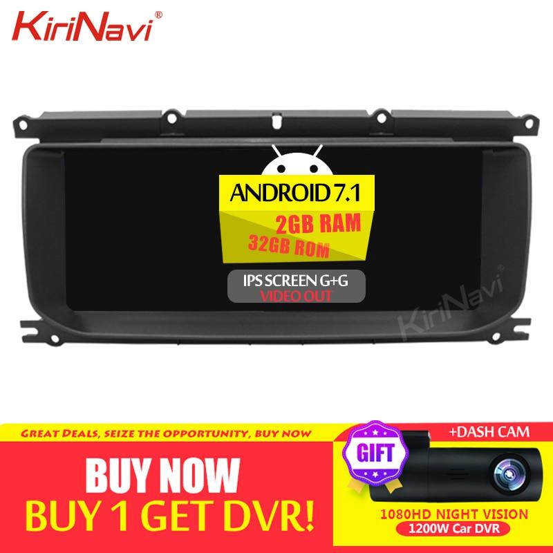 "Radio de coche para Android 10,25 de 7,1 ""de KiriNavi para alcance terrestre reproductor Multimedia de Dvd de coche de alcance Evoque navegación GPS automática 2012-2016 WIFI"