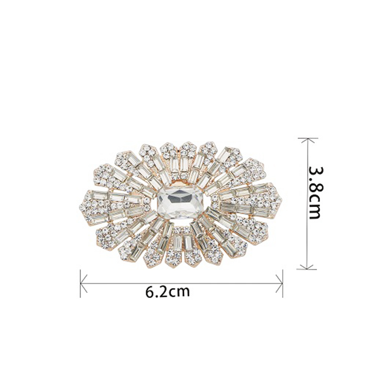 2pcs38*62mm oval exquisite shoe clip wedding shoes high heels female bride decoration rhinestone shiny jewelry charm accessories