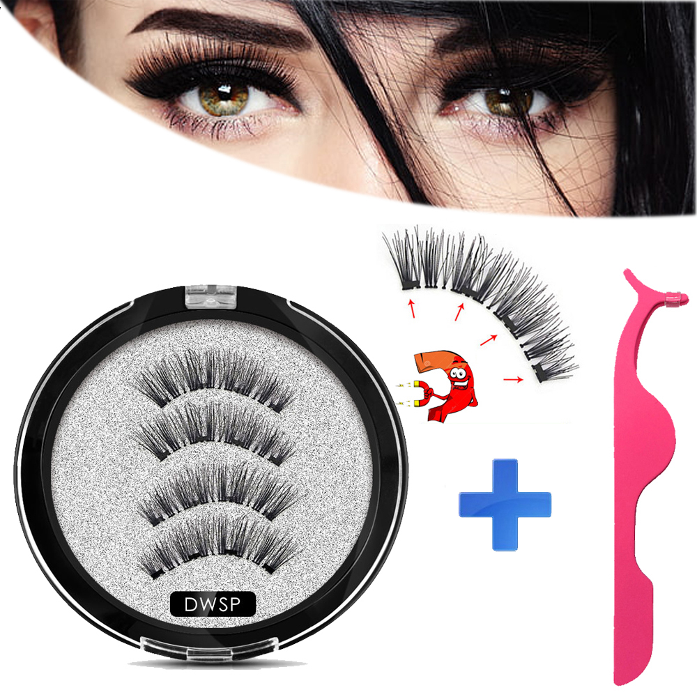 3D New <font><b>Magnetic</b></font> <font><b>eyelashes</b></font> <font><b>with</b></font> <font><b>4</b></font> <font><b>magnets</b></font> Mink <font><b>eyelashes</b></font> natural long False <font><b>eyelashes</b></font> <font><b>with</b></font> applicator <font><b>magnetic</b></font> Lashes extension image
