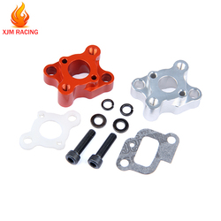 CNC Metal Intake Manifold Set for 23cc 26cc 29cc 30.5cc Engine Parts for 1/5 Hpi Rofun Baha Km Rovan Baja 5b 5t 5sc Losi 5ive-T