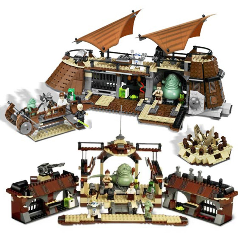 In Stock 05090  Jabba's Sail Barge Set Bricks Comptiable Legoinglys Star Wars Model Building Blocks Boys Birthday Gift Toys