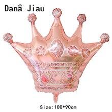 Дана цзяу Роза Золотая Корона воздушный шар из фольги для вечеринок 20 лет с днем рождения украшения большие золотые короны детский душ Гели...