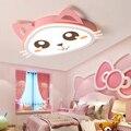 Современные светодиодные потолочные лампы детская принцесса Спальня украшение дома розовый мультфильм милый детский сад девушка комната ...