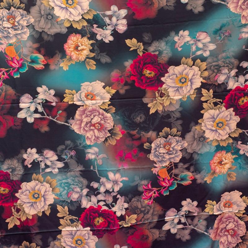 Crepe Stretch Fabric Garment Satin Silk Plain China Wide High-End Summer