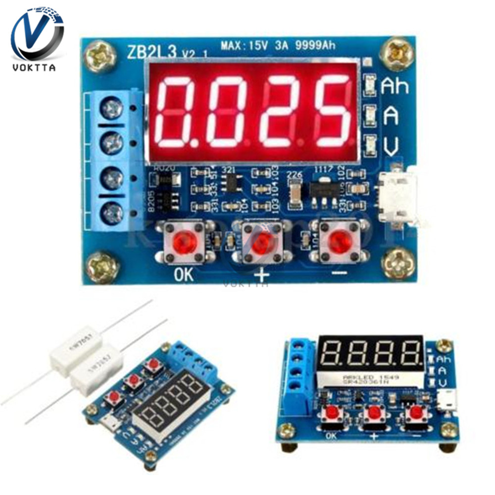 Image 2 - 18650 Lithium Battery Capacity Indicator Tester LCD Digital  Display ZB2L3 Battery Tester LED Power Supply Test Ammeter  VoltmeterBattery Testers   -