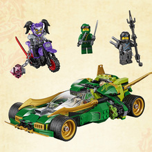 400+pcs Ninja Set Building Blocks Green Racing Car Mech Lloyd Wu Garmadon Charlie Movie Bricks figure Toys kids Education Gifts