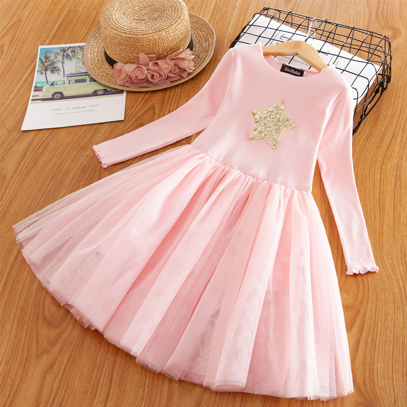 H31dad252260844d89d5e892d18081a9dR Red Kids Dresses For Girls Flower Lace Tulle Dress Wedding Little Girl Ceremony Party Birthday Dress Children Autumn Clothing