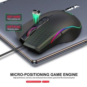 Image 2 - Souris de jeu filaire 7200DPI programme macro définition souris de joueur de qualité professionnelle souris filaire rvb optique pour ordinateur portable