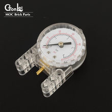 1 peça de alta-tecnologia calibre de pressão pneumática-manômetro compatível com 64065 moc bloco de construção tijolos peças brinquedos apto para 964
