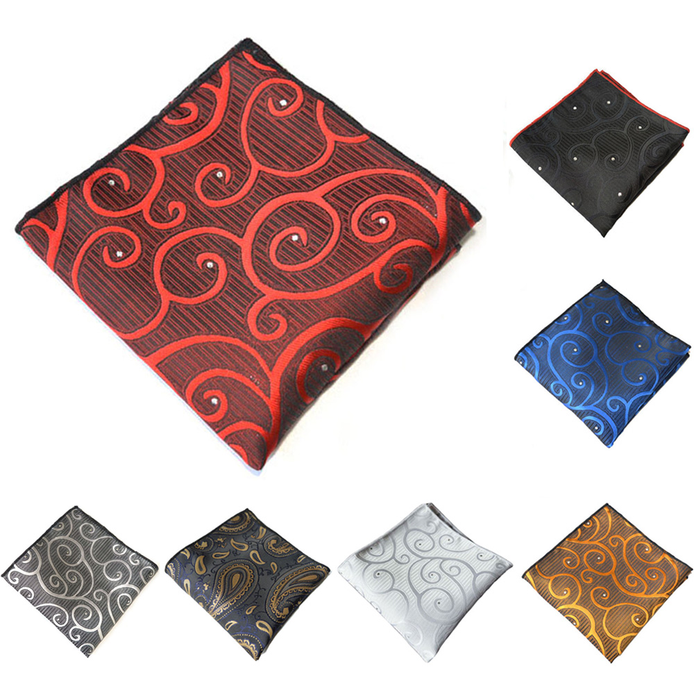 Men Formal Suit Pocket Square High Grade Printed Handkerchief Wedding Party