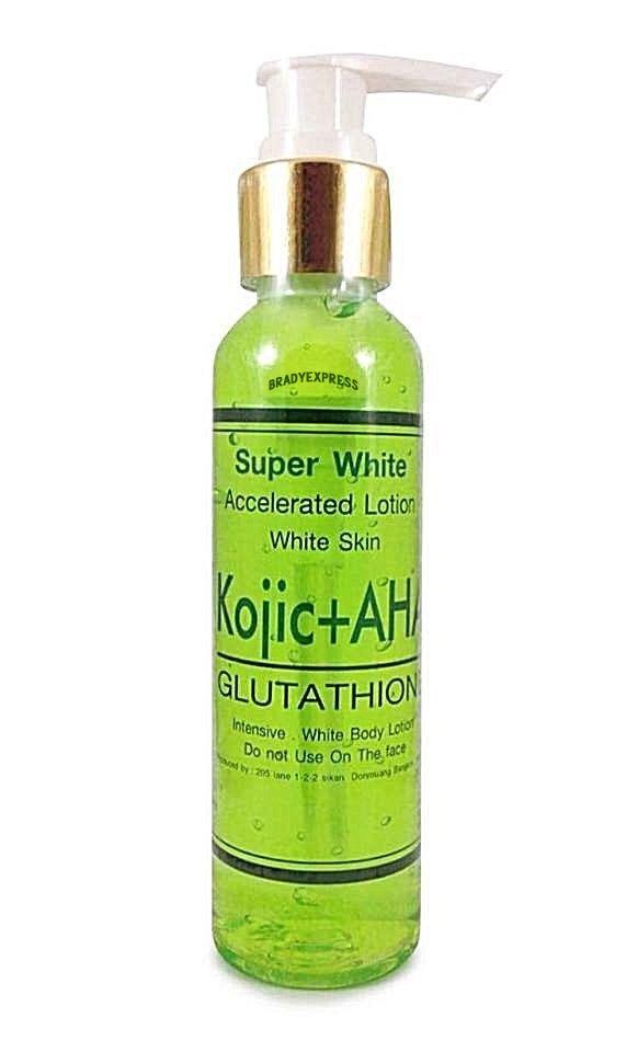 Kojic Acid AHA Glutathione Skin White Lotion Dark Whitening Cream Bleaching Free Shipping