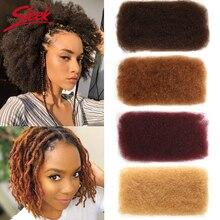 Elegante brasileiro remy cabelo afro kinky encaracolado em massa cabelo humano para trança 1 pacote 50 g/pc cor natural tranças cabelo sem trama