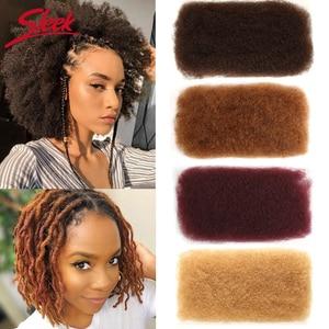 Image 1 - Sleek Brazilian Remy Hair Afro kinky Curly Bulk Human Hair For Braiding 1 Bundle 50g/pc Natural Color Braids Hair No Weft