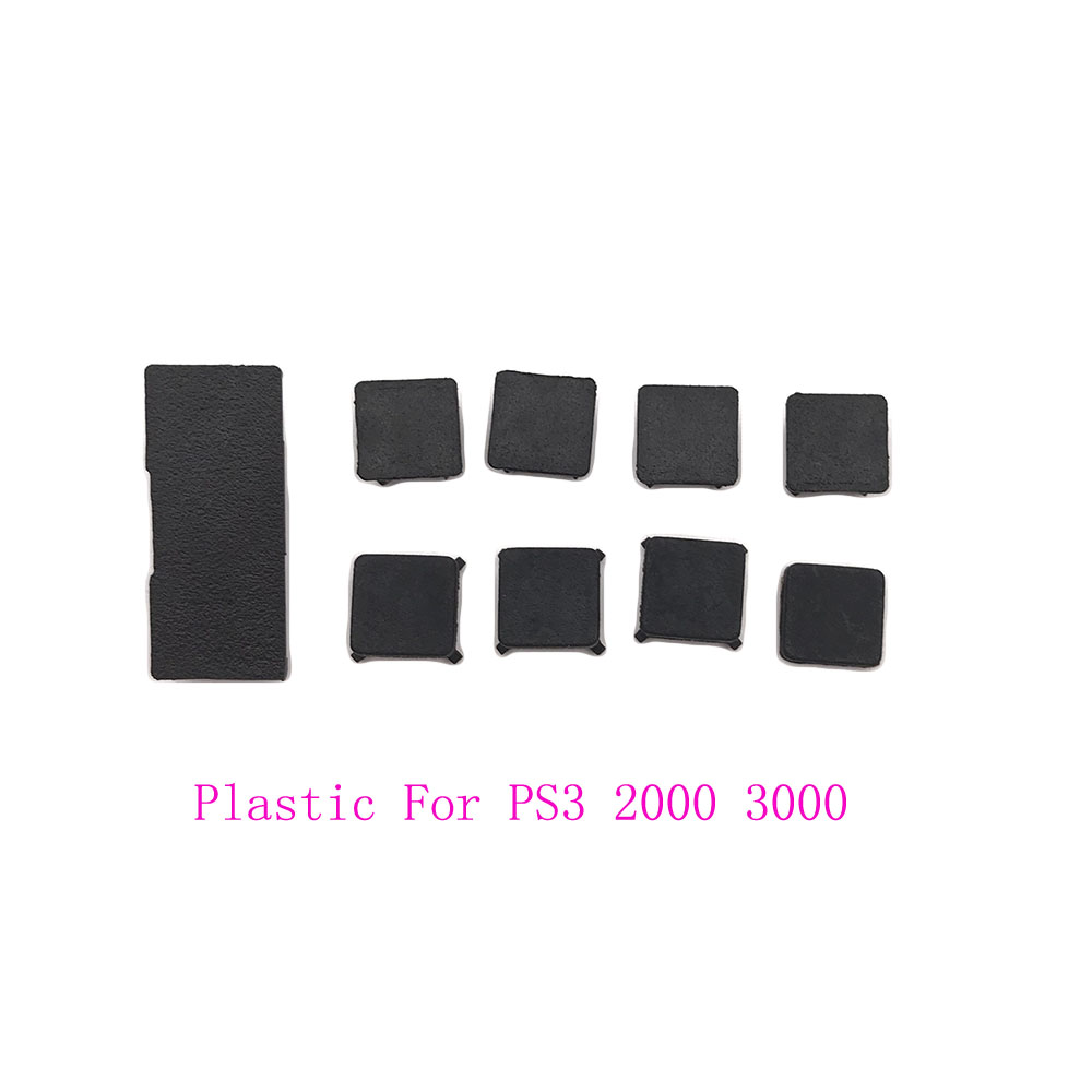 Rubber Feet Plastic Button Screw Cap Cover Set Replacement For Sony Playstation PS3 Slim 2000 3000 Controller
